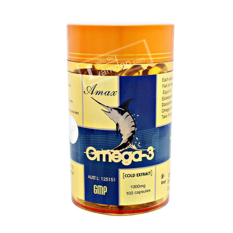 Viên Dầu Cá Omega 3 Amax ( 1000mg x 100 viên)