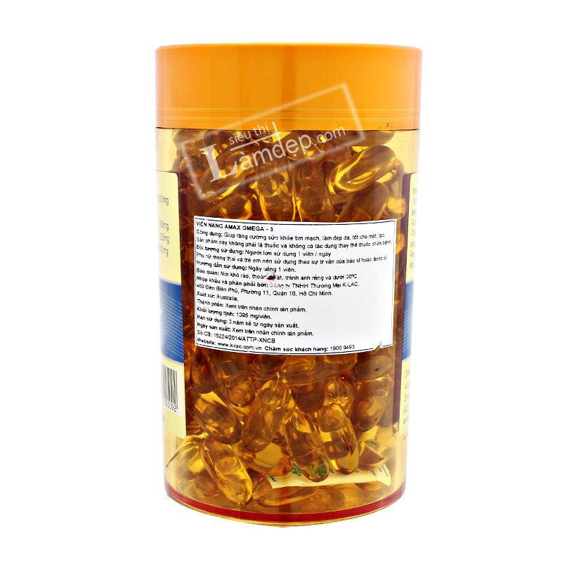 Viên Dầu Cá Omega 3 Amax ( 1000 mg x 200 Viên)