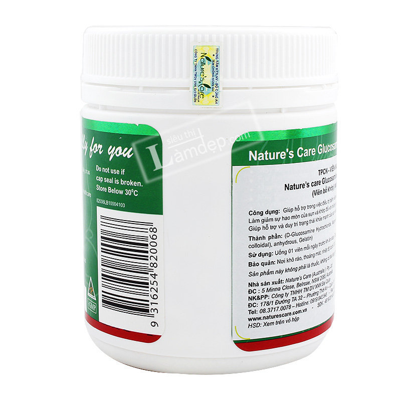 Glucosamine HCL Nature's Care (1000mg x 200 Viên)