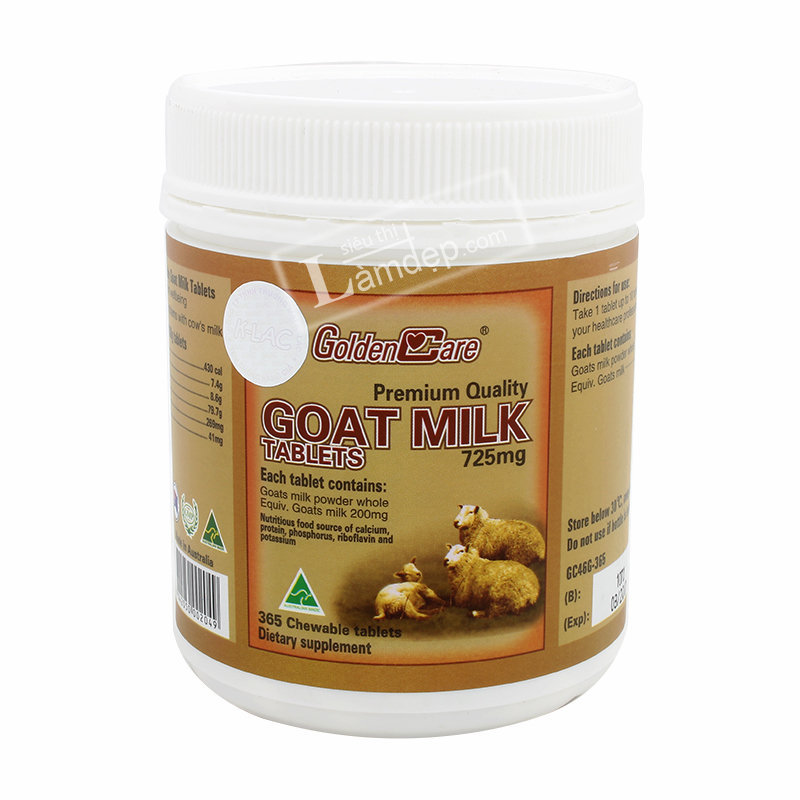 Golden Care Goat Milk 725mg x 365 viên
