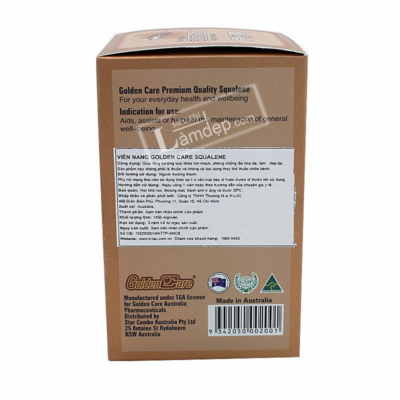 Golden Care Pretimun Quality Squalene (1000mg x 120 Viên)