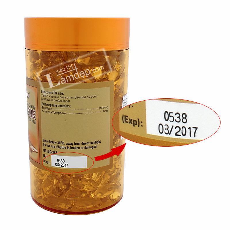 Golden Care Pretimun Quality Squalene (1000mg x 365 Viên)