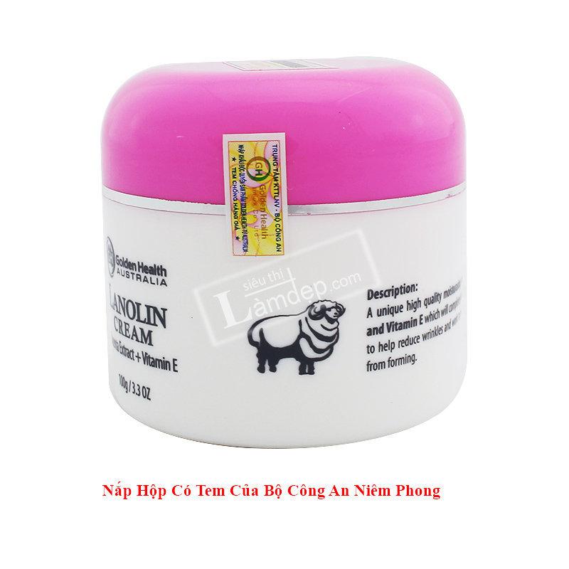 Nhau Thai Cừu Golden Health Lanolin Cream 100gr