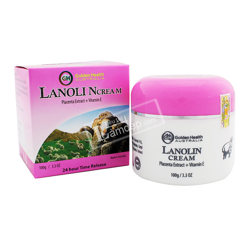 Nhau Thai Cừu Golden Health Lanolin Cream 100gr