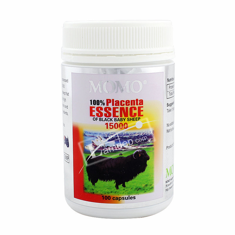 Nhau Thai Cừu Đen Momo Essence Of Black Baby Sheep (1500mg x 100 Viên)