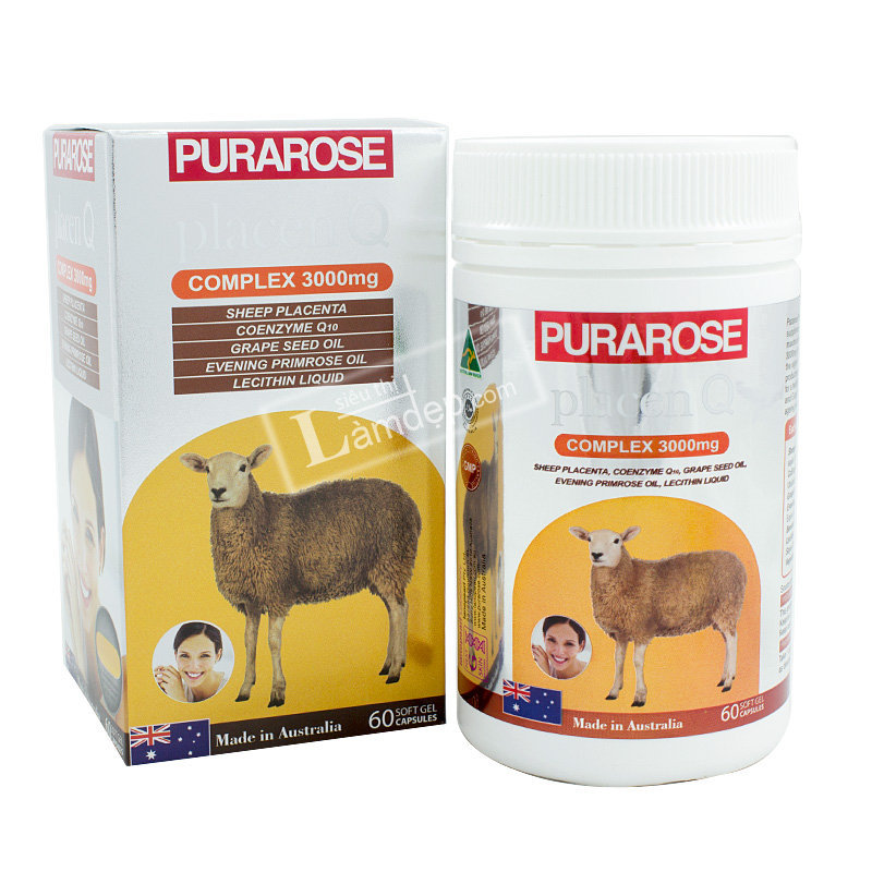 Nhau Thai Cừu Purarose ( 3000mg x 60 Viên)