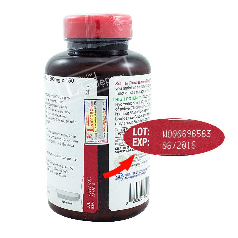 Schiff Glucosamine Plus MSM ( 1500mg x 150 Viên)
