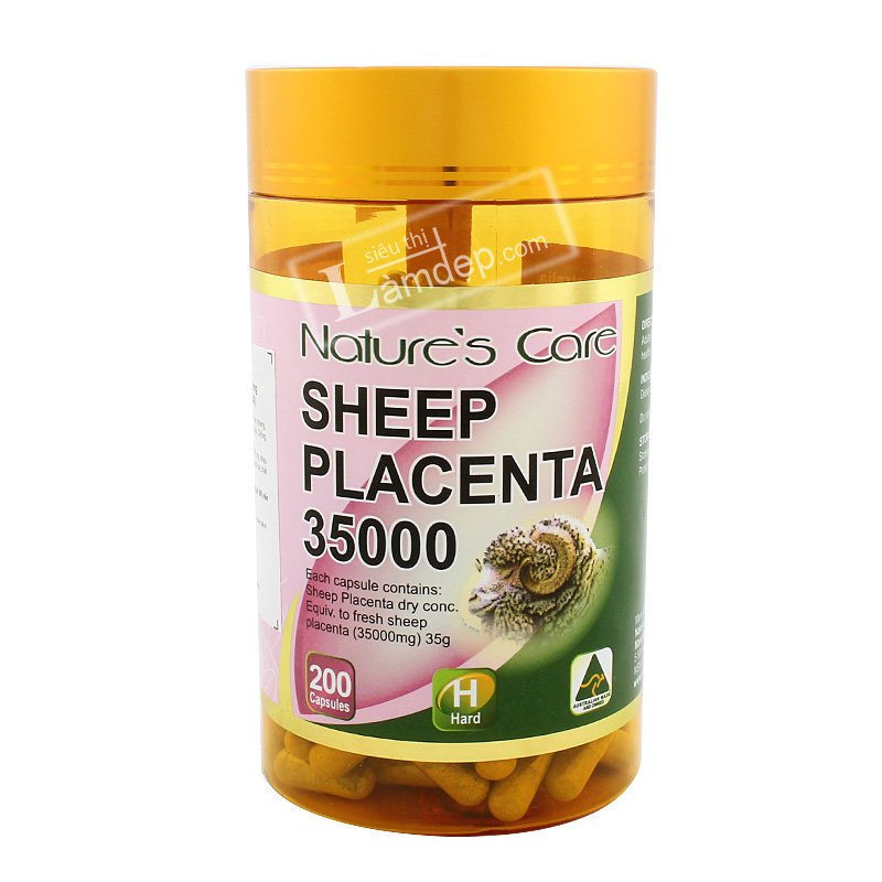 Nhau Thai Cừu Sheep Placenta Nature`s Care 35000mg