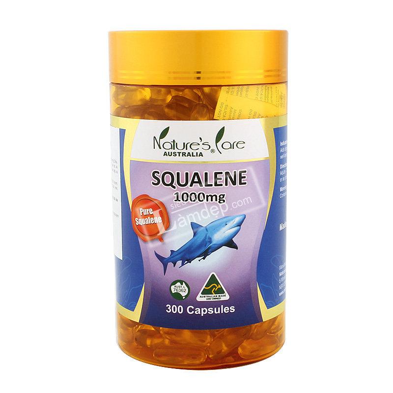 Viên Uống Dầu Gan Cá Mập Squalene Nature`s Care (1000mg x 300 Viên)