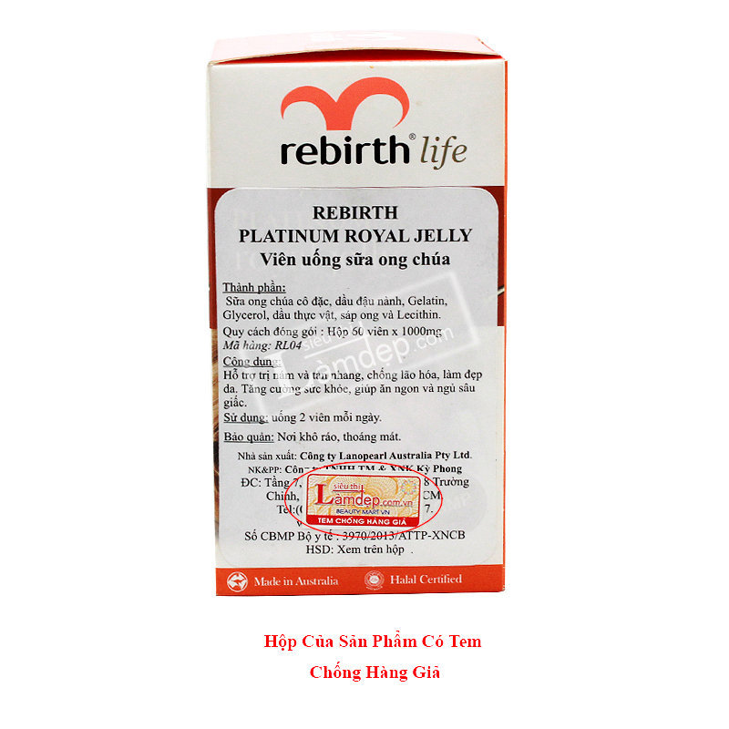 Sữa Ong Chúa Rebirth Platinum Royal Jelly 1000mg