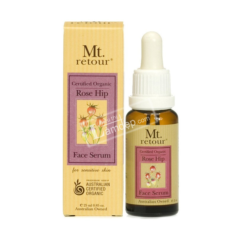 Certified Organic Rose Hip Face Serum (MR40) 25ml