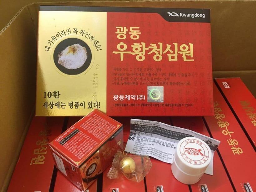 An Cung Ngưu Hoàng Hoàn Kwangdong Nội Địa Hàn Quốc Hộp Đỏ Hình Tổ Kén (Hộp  10 Viên)