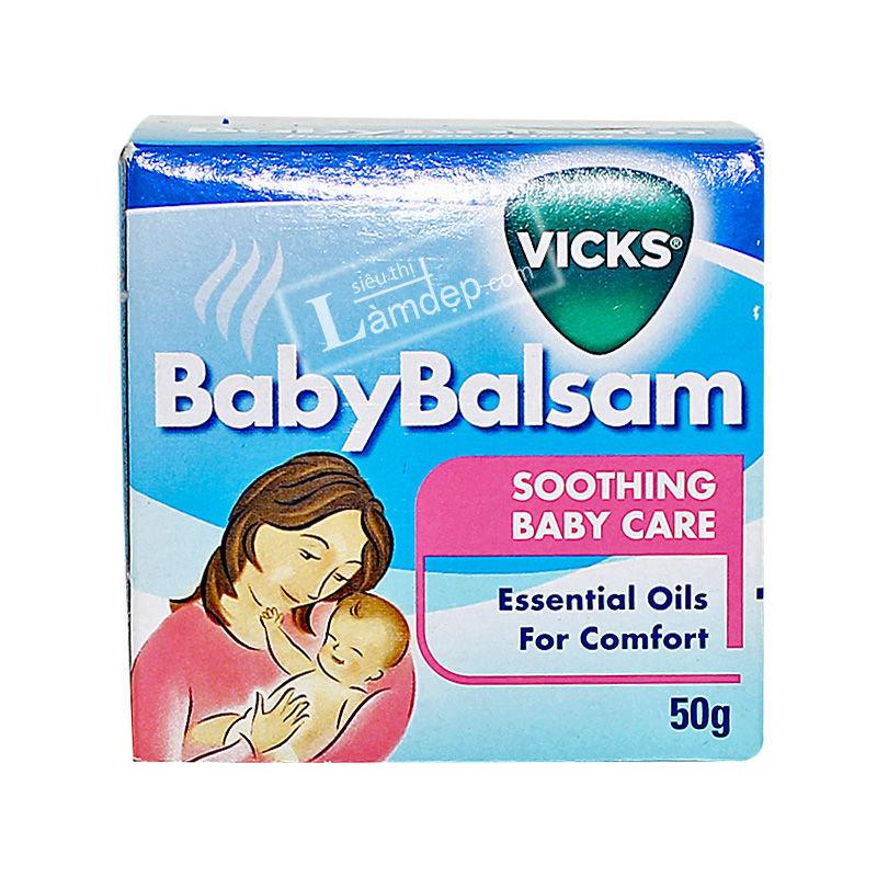 Dầu Vicks Baby Balsam - Giữ Ấm, Phòng Ngừa Ho, Cảm Lạnh Cho Bé