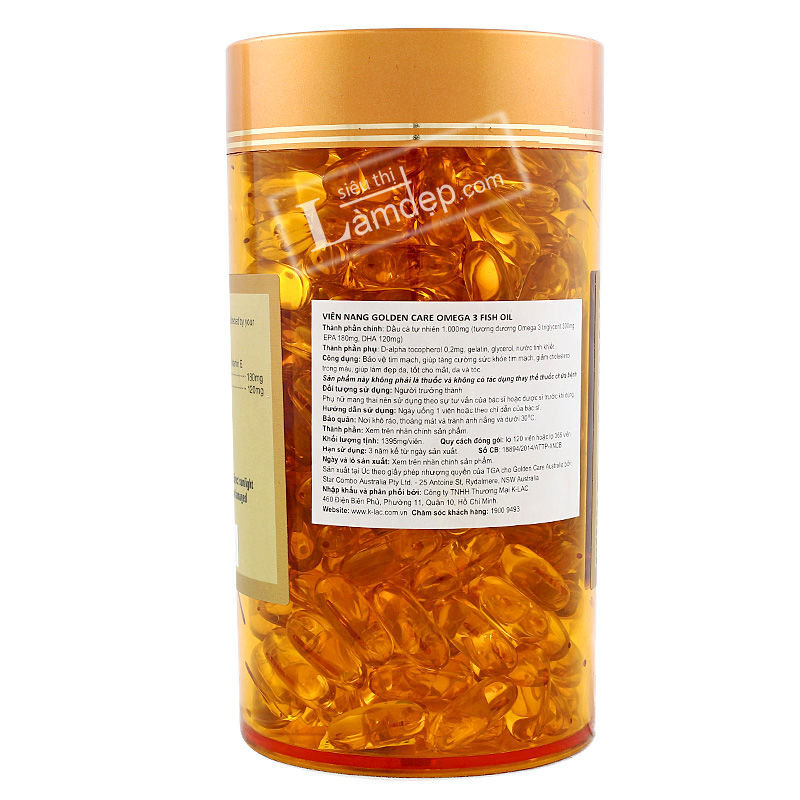 Viên Dầu Cá Omega 3 Golden Care (1000mg x 365 viên)