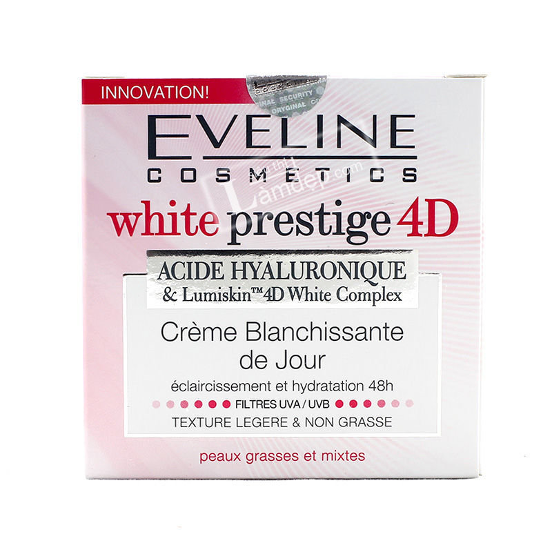 Kem Dưỡng Trắng Da Ban Ngày Eveline White Pretige 4D