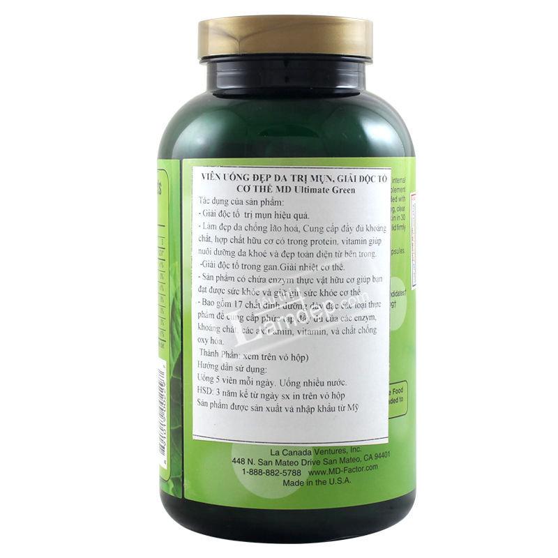 MD Ultimate Green - Viên Uống Giải Độc, Trị Mụn Hiệu Quả
