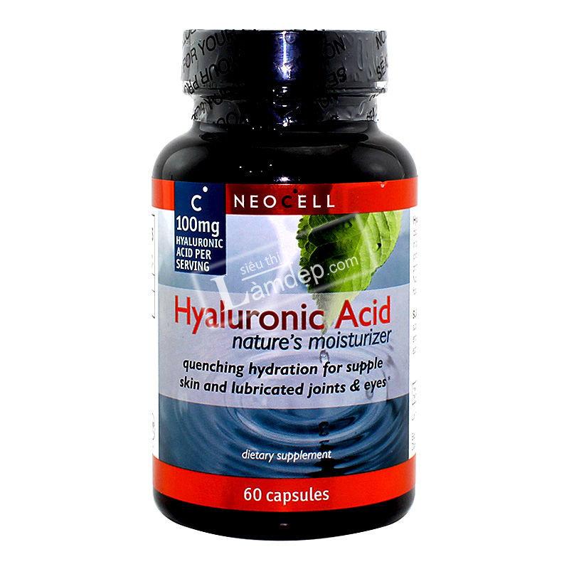 Viên Uống Dưỡng Da, Bổ Khớp, Sáng Mắt - Neocell Hyaluronic Acid (100 mg x 60 Viên)
