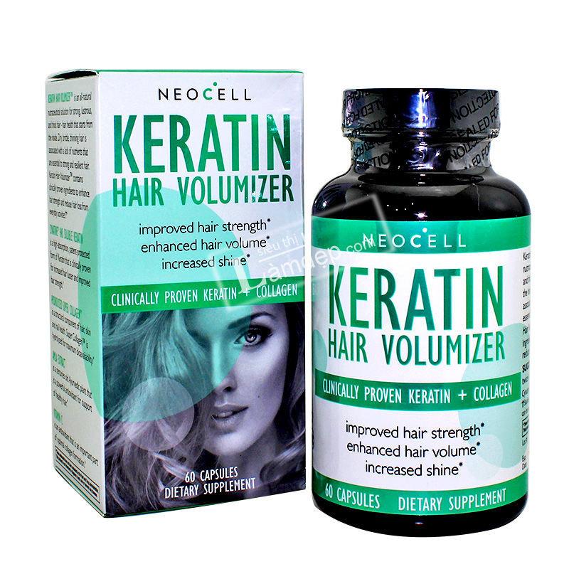 Viên Uống Mọc Tóc Và Ngăn Ngừa Rụng Tóc Neocell Keratin Hair Volumizer (60 Viên)