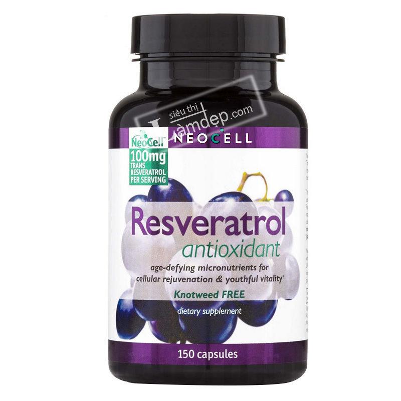 Neocell Resveratrol Antioxidant - Viên Uống Hỗ Trợ Tim Mạch, Chống Lão Hóa