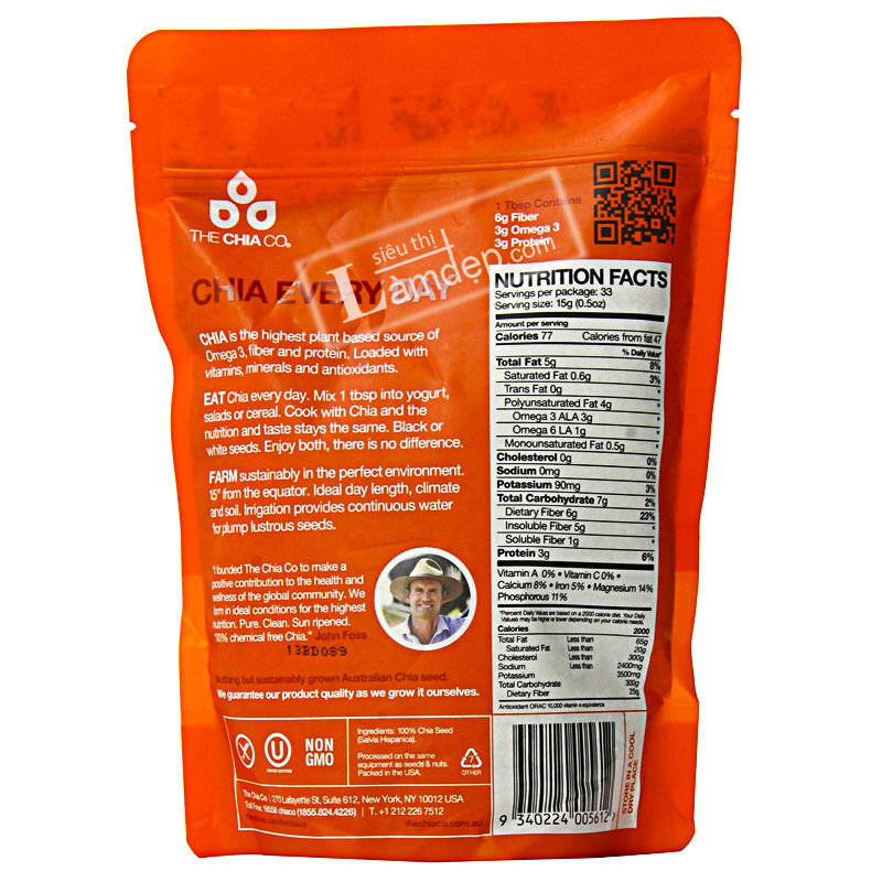 The Chia Co - White Chia 500g