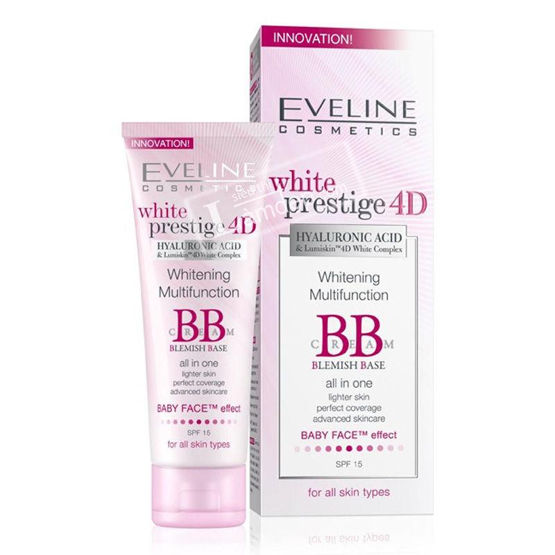 BB Cream Trắng Da Đa Tác Dụng Eveline White Prestige 4D