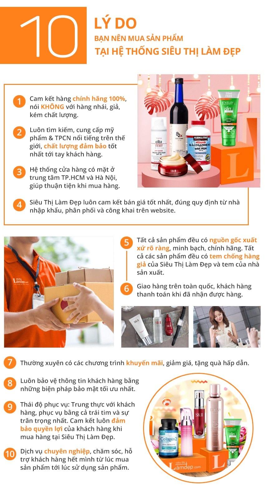 10 lý do mua hàng tại Siêu Thị Làm Đẹp