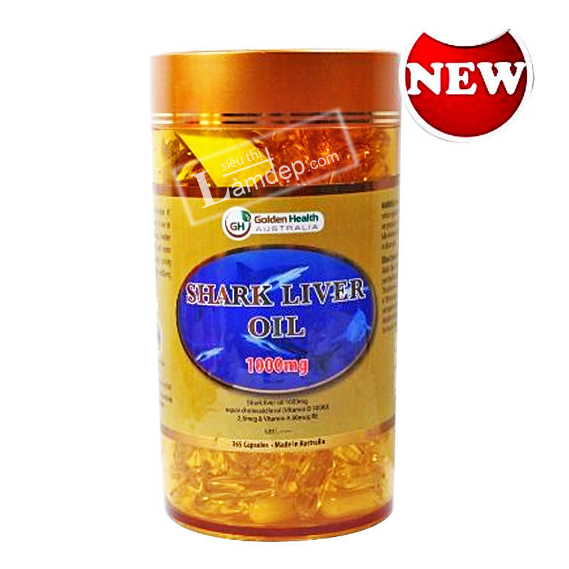 Dầu Gan Cá Mập Shark Liver Oil Golden Health (1000mg x 365 Viên)