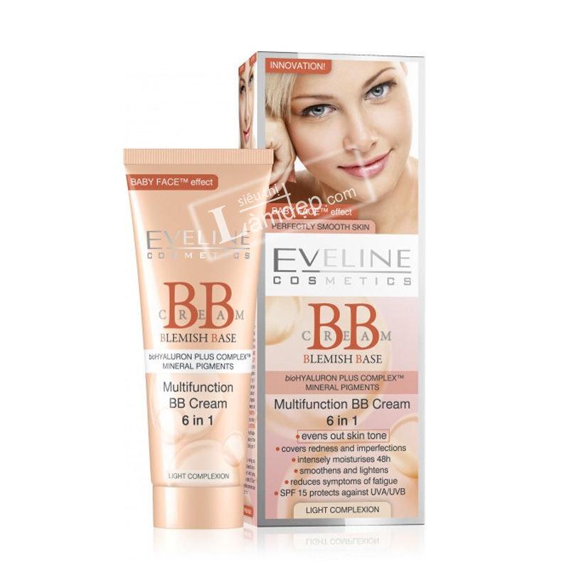 BB Cream 6 trong 1 Eveline (Màu Sáng)