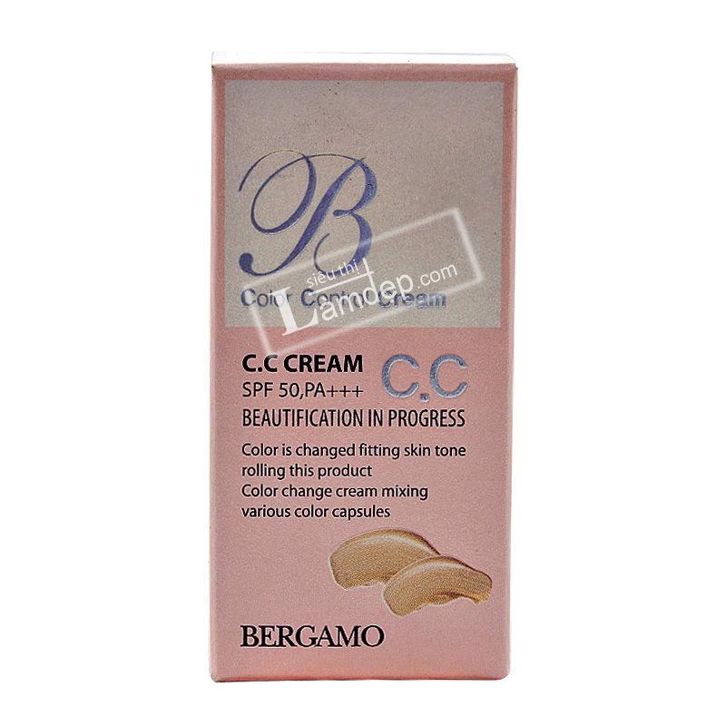 Kem Đa Tác Dụng, Kiểm Soát Màu Da CC Cream Bergamo SPF 50+