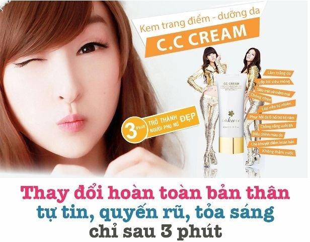 Kem Dưỡng Da, Trang Điểm Chống Nắng Sakura CC Cream
