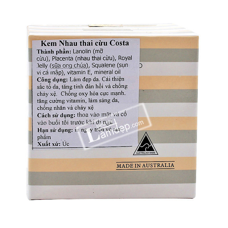 Kem Nhau Thai Cừu Placenta Cream Costar