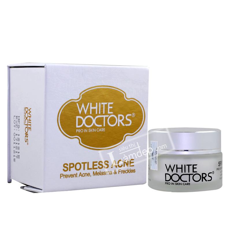Kem Trị Thâm Mụn Làm Trắng Da White Doctors - Spotless Acne
