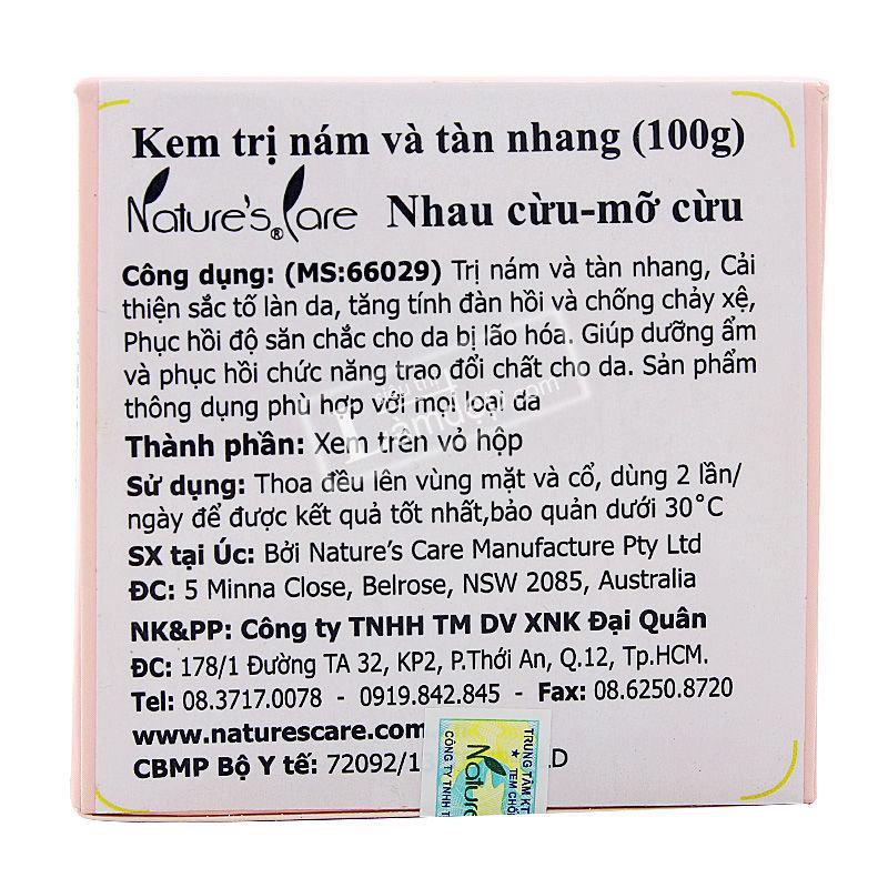 Kem Trị Nám Da Và Tàn Nhang Lanolin Cream With Placenta Leimei Nature Care