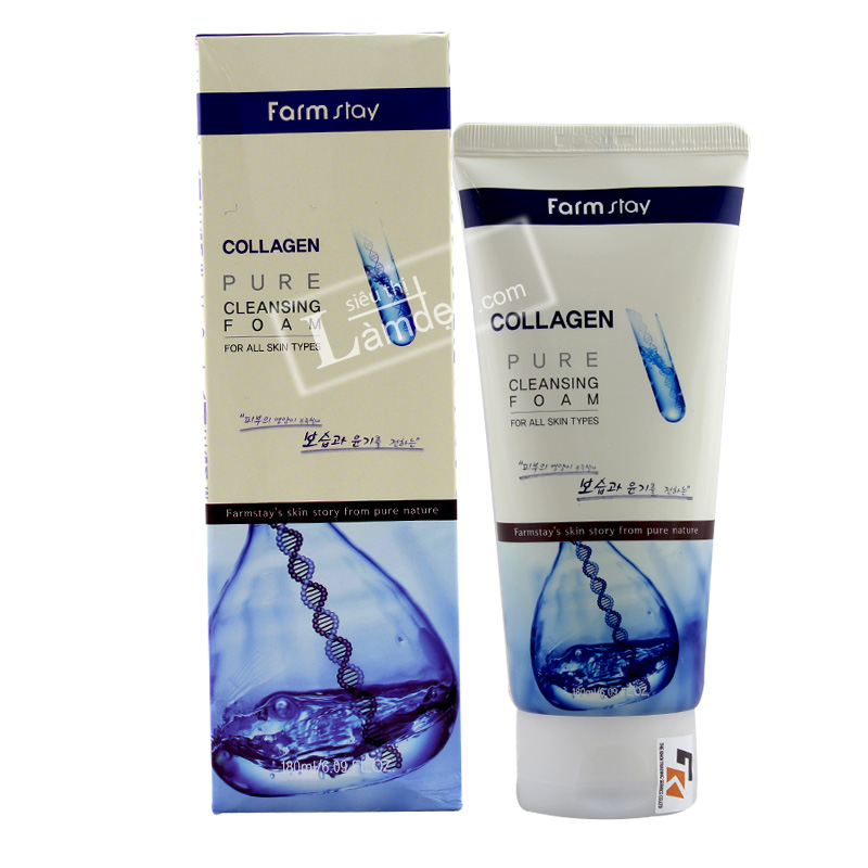Sữa Rửa Mặt Trẻ Hóa Da Chiết Xuất Collagen Farm Pure Collagen Cleansing Foam