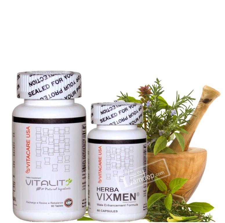 Bộ Đôi Tăng Cường Sinh Lý Hiệu Quả Herba Vixmen & Vitality89