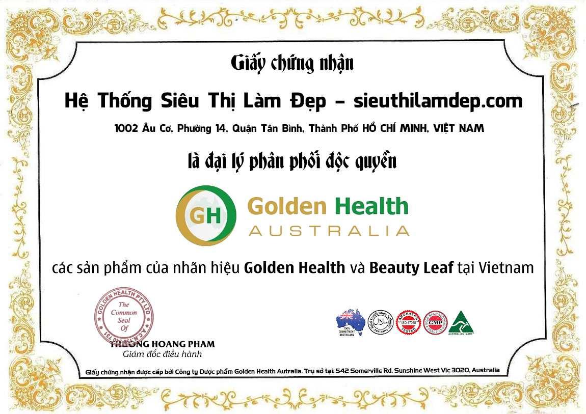 Giấy chứng nhận nhà phân phối golden health