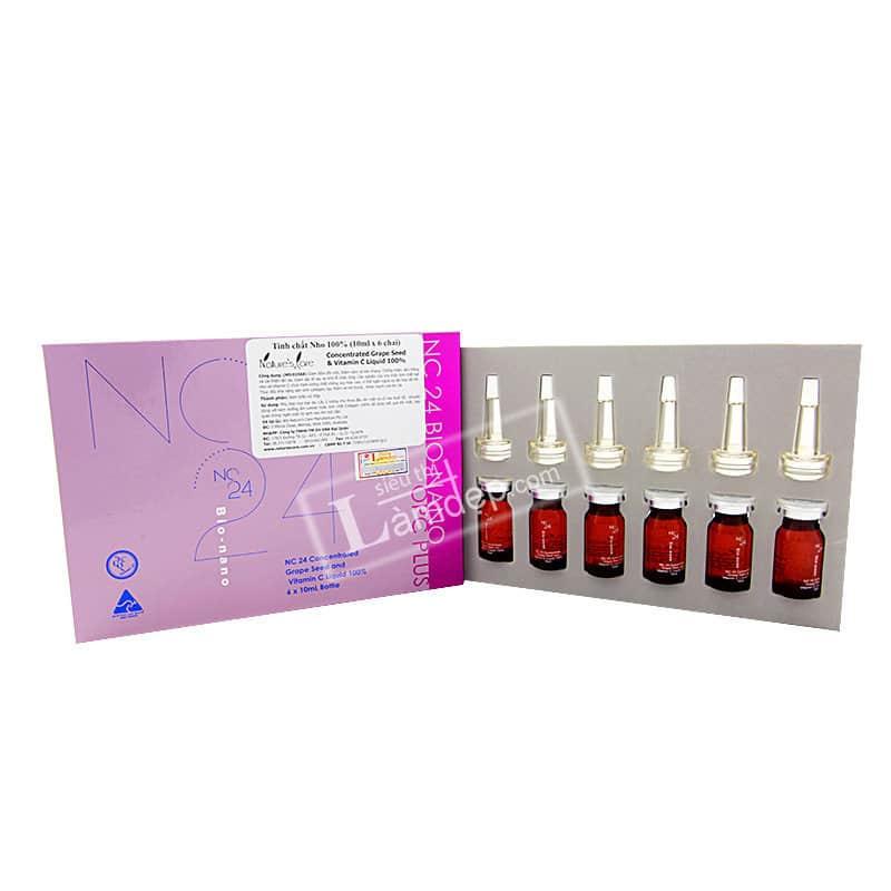 Tinh Chất Hạt Nho Và Vitamin C 100% Nature's Care NC24 Bio-nano (6 Chai x 10ml)