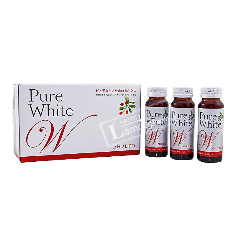 Nước Uống Collagen Pure White Shiseido Nhật Bản (50ml x 10 lọ)