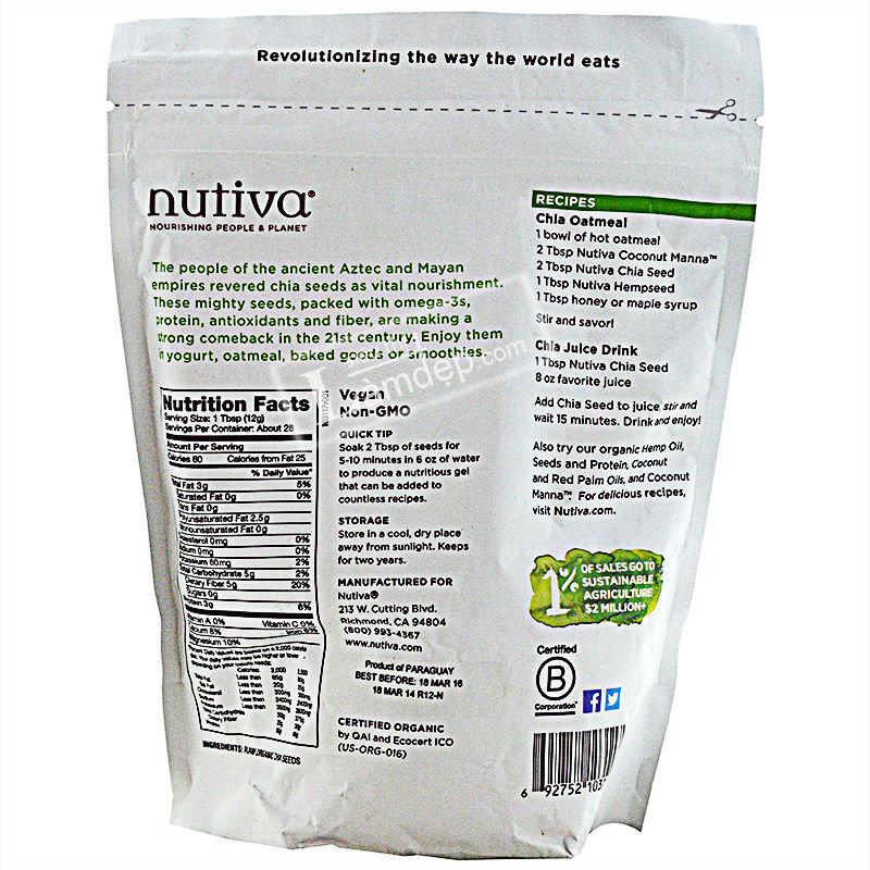 Hạt Chia Nutiva Organic