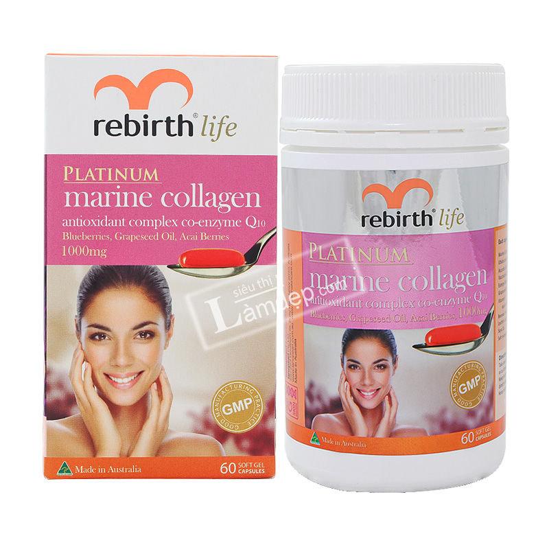 Platinum Marine Collagen Rebirth Life - Viên Uống Collagen Cao Cấp Của Úc