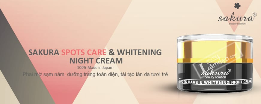 Kem Trị Nám Da Ban Đêm Sakura Spot Care & Whitening Night Cream