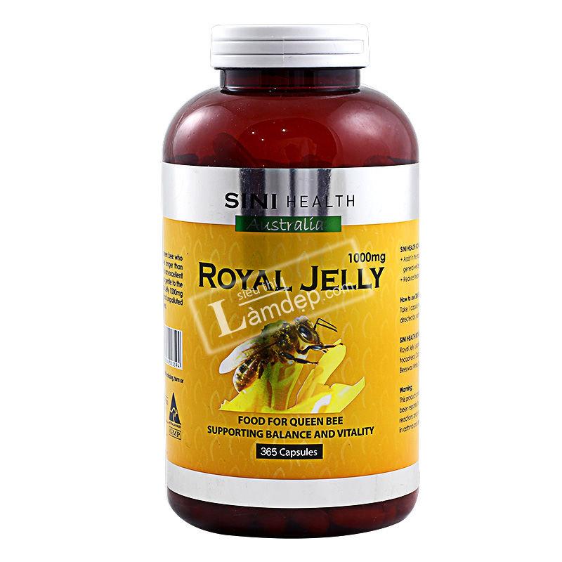 Sữa Ong Chúa Úc Sini Health Royal Jelly (365 Viên x 1000mg)
