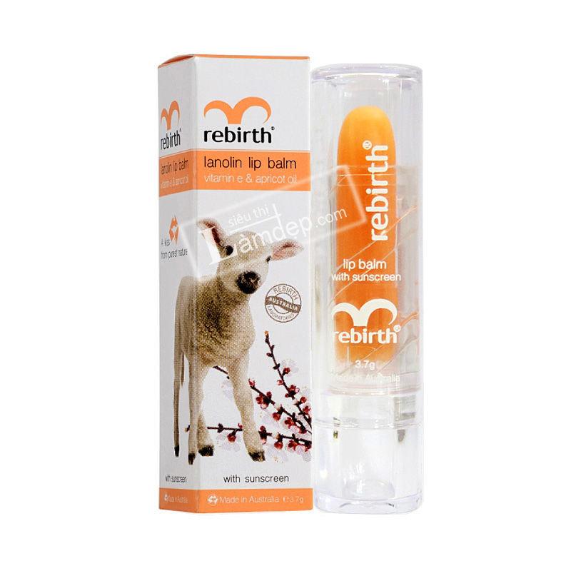 Son Dưỡng Môi Nhau Thai Cừu Chống Nắng Giàu Vitamin E Rebirth
