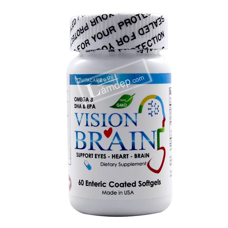 Vision Brain Viên Uống Hỗ Trợ Tim Mạch, Tăng Cường Trí Não Của Mỹ