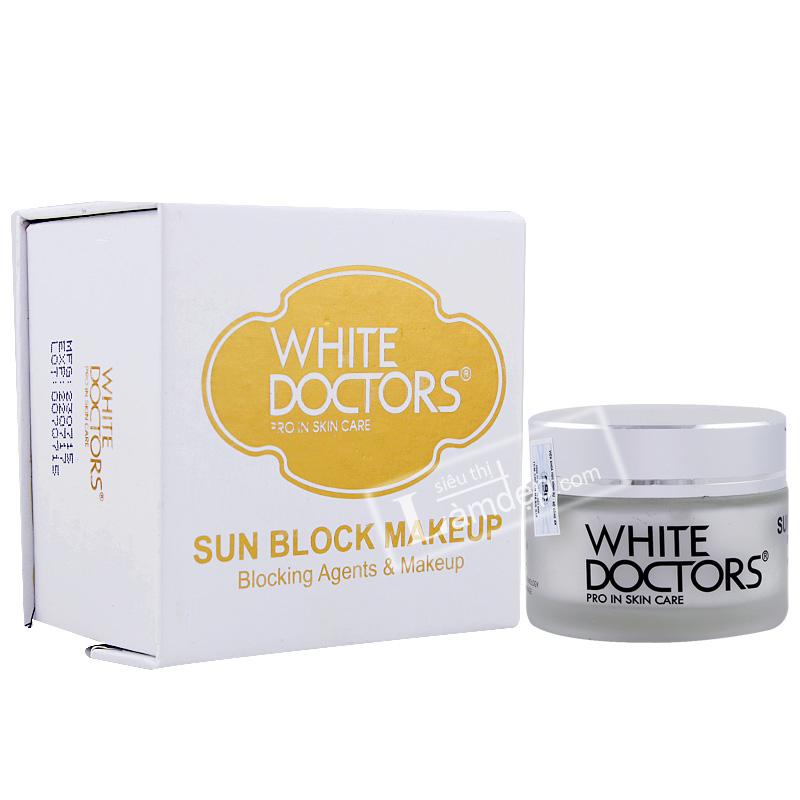 Kem Trang Điểm Trắng Da Mặt Siêu Chống Nắng White Doctors Sun Block Makeup
