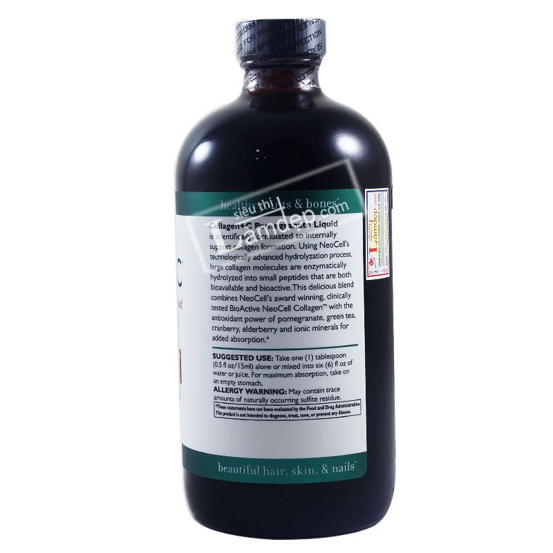 Nước Collagen Chiết Xuất Từ Quả Lựu - Neocell Collagen + C Pomegranatr Liquid 16 Oz ( 473ml )