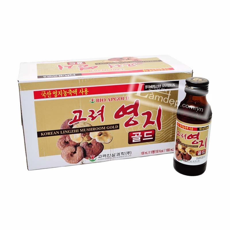 Nước Uống Tăng Lực Linh Chi Hàn Quốc (100ml x 10 chai)