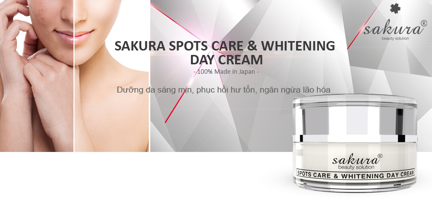 Kem Dưỡng Da Trị Nám Ban Ngày Sakura Spot Care & Whitening Day Cream SPF 50++