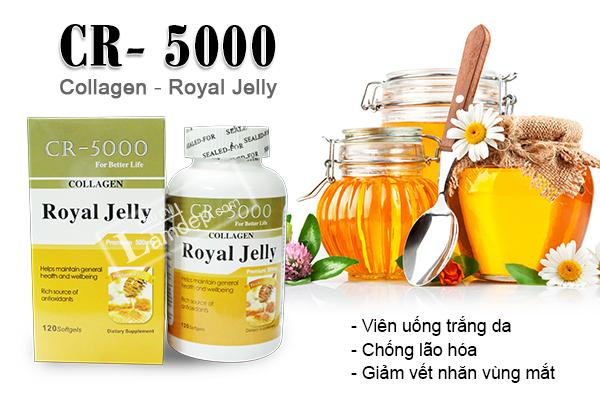 Sữa Ong Chúa CR-5000 Kết Hợp Collagen Cao Cấp Của Mỹ