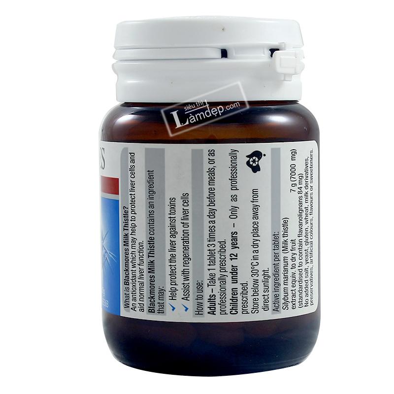 Viên Uống Giải Độc Gan Blackmores Liver Health Milk Thistle